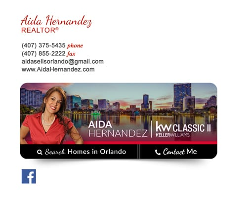 custom email signature for real estate