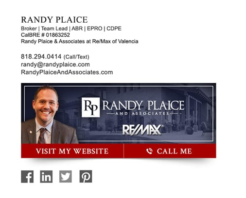 RE/MAX agent email signature