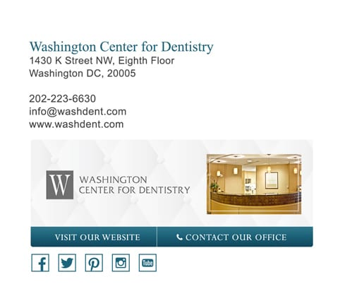 email signature for dental office