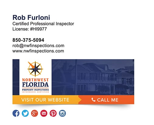 property inspector email signature