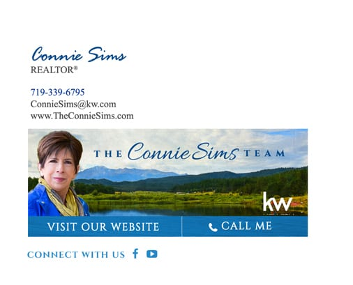 Connie Sims REALTOR email signature