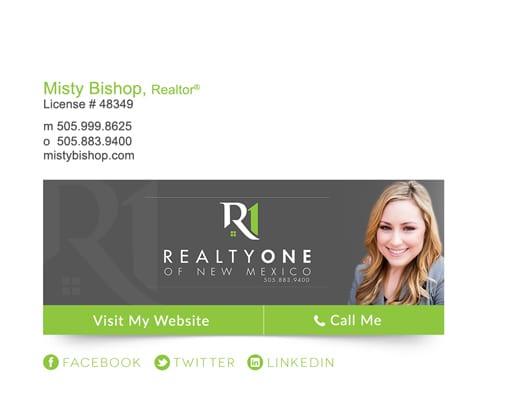 real estate broker signature