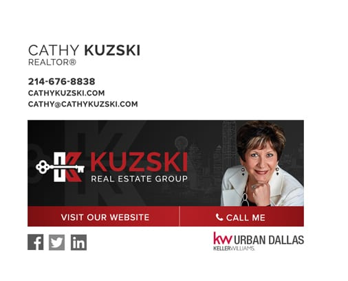 Keller Williams REALTOR Cathy Kuzski email signature