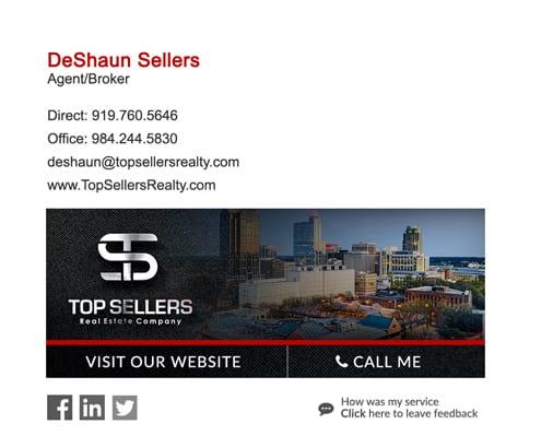 agent/broker email signature