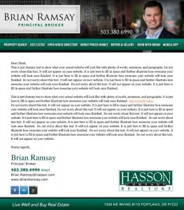 Email Stationery Sample: Brian Ramsay