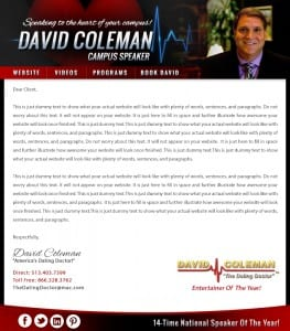 Email Stationery Sample: David Coleman