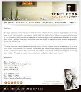 Email Stationery Sample: Dawn Templeton