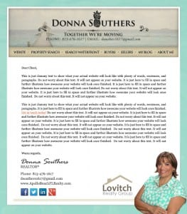 Email Stationery Sample: Donna Southers