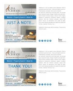 Email Stationery Sample: Lisa Ciofani