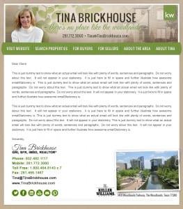 Email Stationery Sample: Tina Brickhouse