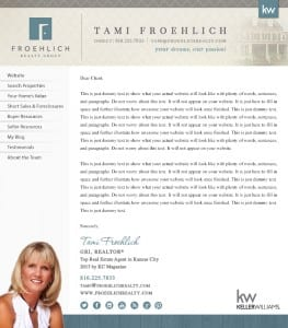 Email Stationery Sample: Tami Froehlich