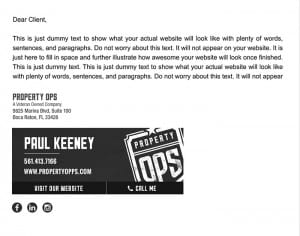 Email Stationery Sample: Paul Keeney