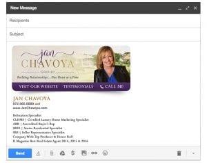 Email Stationery Sample: Jan Chavoya
