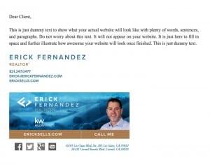 Email Stationery Sample: Erick Fernandez