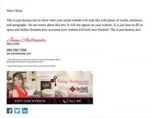 Email Stationery Sample: Jenny Avellaneda
