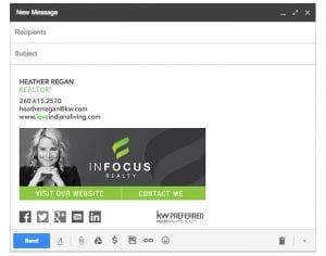 Email Stationery Sample: Heather Regan