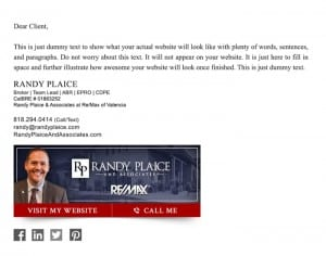 Email Stationery Sample: Randy Plaice
