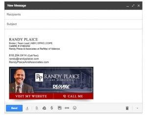 Email Stationery Sample: Randy Plaice