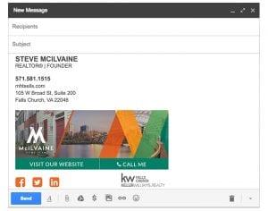 Email Stationery Sample: Steve McIlvaine