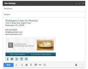 Email Stationery Sample: Washington Dentistry