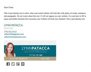 Email Stationery Sample: Lynn Patacca