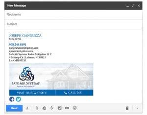 Email Stationery Sample: Joseph Ganguzza