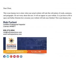 Email Stationery Sample: Rob Furloni