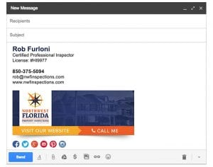 Email Stationery Sample: Rob Furloni
