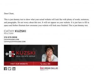 Email Stationery Sample: Cathy Kuzski