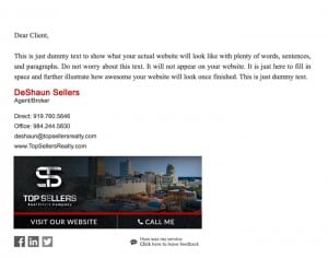 Email Stationery Sample: DeShaun Sellers