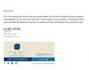 Email Stationery Sample: Elise Vetri