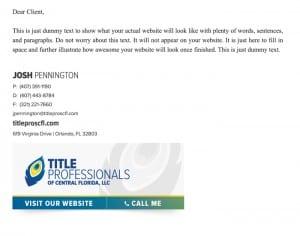 Email Stationery Sample: Josh Pennington